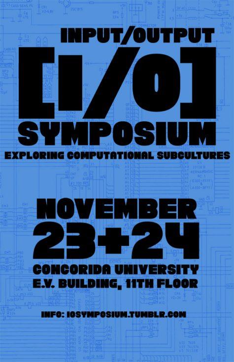 Affichette du symposium I/O